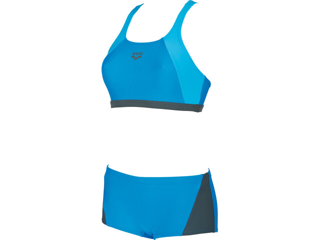 arena Rem Two-Pieces Swimsuit Damer, pix blue-shadow grey-turquoise